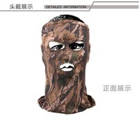 Wholesale Hunter s MOSSY OAK Bionic camouflage Mask Winter Hunting Protective headgear Masked Cap for Outdoor Riding Camping H107