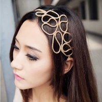 Wholesale F042 Min order mix New Fashion Gold Hollow Out Knit Hairbands Hair Accessory