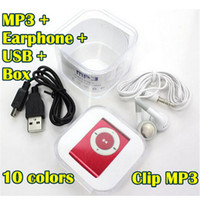 Wholesale Mini Clip MP3 Player without Screen Support Micro TF SD Card reader GB Cheap Sport Style Metal MP3 MP4 Players with Retail Box