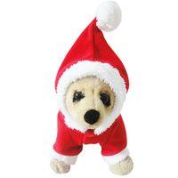 arrival pet outwear - 2015 Christmas New Arrival Fashion Santa Claus Dog Clothes Pet Puppy Pet Clothes Costume Outwear Coat