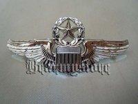 aviation europe - light Empire American aviation Senior Qualification badge anodized bright silver