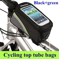 Wholesale Bicycle Frame Bag inch inch inch Waterproof Cycling Bike Bicycle Front tube Phone Bag Waterproof Cycling Bike Bicycle Frame Front
