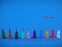 Wholesale G G W ISO standard Dispensing needles PP luer lock hub inch tubing length precision S S dispense blunt tips