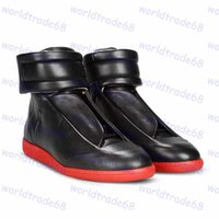 leather soles for shoes - Maison Martin Margiela red sole high for the latest popular men s men leisure shoes leather