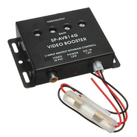 Wholesale 12 V Auto Car to Monitor Video Amplifier Booster Distribution Splitter Video Booster for DVD LCD TV order lt no track