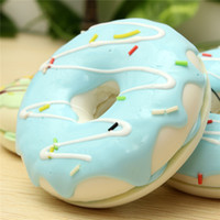 Wholesale 1PC kawaii squishies Jumbo CM Charming Chocolate Donut Cream Scented Simulation Food Phone Strap as presents