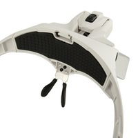 Wholesale X X X X X Lens Adjustable Loupe Headband Magnifying Glass Magnifier with LED Magnifying Glasses