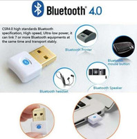 Wholesale Mini USB Bluetooth V4 Dual Mode Wireless Dongle Gold plated connector CSR Adapter Audio Transmitter For Win7 XP