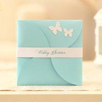 5 couleurs rose Invitations de mariage Bleu Rouge Violet Papillon d'or Cartes mariage formel cartes Événement Custom Made 2,016 Imprimer Gratuit