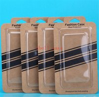 kraft box - DHL For S6 Plain Kraft Brown Paper Retail Package Box boxes with holder for phone case cover iPhone S PLUS Samsung Galaxy S5 note3