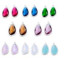 australian opal jewelry - 4 New Charm Pendants Jewelry Making Findings Inlay Resin Rhinestone australian opal pendants