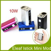 Wholesale 100 Original ismoka eleaf istick mini w box mod LED Screen MOD e cigarette Eleaf iStick mini w mah battery W mod DHL FREE