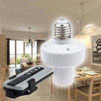 Wholesale High Quality Wireless Remote Control E27 Screw Type Lamp Holder Base Lampholder