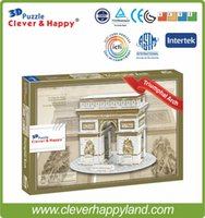 accounting world - Puzzles Magic Cubes Puzzles World Famous building D Foam puzzle model Triumphal Arch puzzle paper accounting