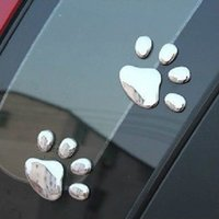 Wholesale Hot Sale Pair of Stylish Bear Paw Pet Animal Footprints Emblem Car Truck Decor D Sticker Decal car sticker