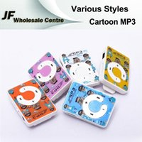 Wholesale Fashion Various Styles Mini MP3 Player Cartoon Hellokitty Doraemon Mickey Cute Mini Portable Music Player With Retail Package MP3 Player