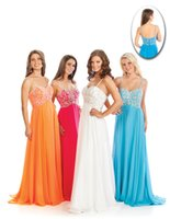 Reference Images A-Line Spaghetti 2015 Spaghetti Strap Crystals Chiffon WOW Prom Evening Dresses 2112 A Line Beading Backless Zipper Floor Length Winter Formal Celebrity Gown
