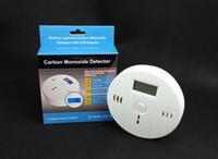 Acheter Surveillance des gaz-CO Carbon détecteur de monoxyde de rétroéclairage LCD Moniteur d'alarme Empoisonnement capteur de gaz Attention Détecteur de fumée testeur pour la maison securtiy dans la boîte de détail