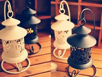 Wholesale zakka grocery home creative lace vintage British metal hanging candelabra TY201