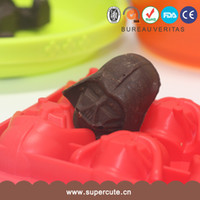 Wholesale 1lot styles cm Star War Figure Mold Silicone Ice cube Chocolate Mold R2D2 TOY Kitchen Tools Diy Model