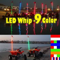 Wholesale In Stock Addmotor LED Light Whip W Flag ATV UTV Off Road Sand Dunes Antenna Safety Flag Whip Light Color Choices Amber