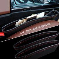 Wholesale leather auto seat gap storage organizer for BMW accessories Audi nissan skoda ford opel kia polo car trunk organizer bag