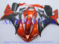 Wholesale HOT Injection molding fairings for YAMAHA YZF R1 YZFR1 YZF R1 YZF1000 red black fairings OEM quality