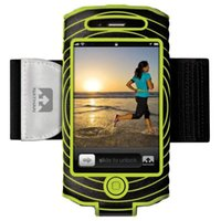 Wholesale Nathan NBE SonicBoom Arm Band for iPhone Black Green