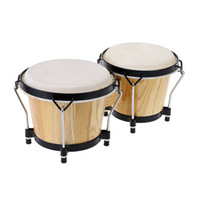 baby bongos - 6 Inch Tunable Bongos Clear Finish Bongo Musical Instrument and Educational Musical Percussion Toy for Baby Kids Chidren I1176