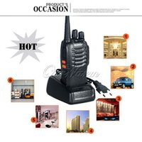 Wholesale 6km Black Baofeng BF S Walkie Talkie Two way Radio Portable Handheld Interphone Transceiver for outdoor adventures