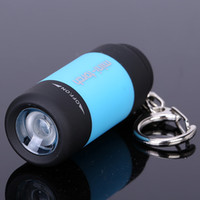 mini key chain - USB Rechargeable Waterproof Mini torch LED Flashligh ABS MIX Color Camping Sporting Portable Keychain Lamp Torch Key Chain Flashlights