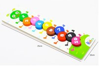 Wholesale Caterpillar Digital Bead Game Colorful Cute Wooden Blocks Educational And Learning Toys For Kids S30213