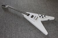 Wholesale electric guitar costom flying v electric guitar ebony fretboard white