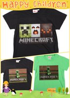 Wholesale 2 y new minecraft t shirts summer kids baby boy clothes christmas gift kids clothes babies clothes kids christmas t shirts