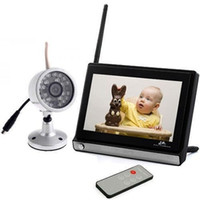 Wholesale 7 quot Baby Monitor G CH Wireless DVR Home Security CCTV Video System w IR Camera