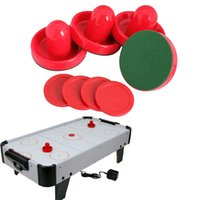 Wholesale New Air Hockey Table Goalies with Puck Felt Pusher Mallet Grip Air Hockey Accessories Tool