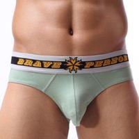 Wholesale Men Underwears Briefs Penis Pouch U Convex Underpants Cotton Solid Low Waist Big Size High Quality Underwear Gay Bikini
