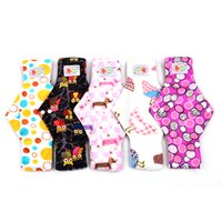 sanitary napkin - 5pc inches Bamboo charcoal Cloth Menstrual Pads Heavy Flow Waterproof Reusable Menstrual Pds for Women Washable Sanitary Napkin Pads