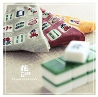 Wholesale Mahjong explosion models mid socks Stockings new autumn winter fashion cotton jacquard female socks Socks women socks factory