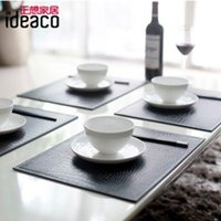 bamboo placemats - Table Decoration Faux leather placemat fashion decoration tablewear waterproof dining table mat heat insulation table placemats