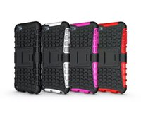 Wholesale Heavy Duty Rugged Dual Layer Impact Armor Robot KickStand Case Cover For Apple ipod touch