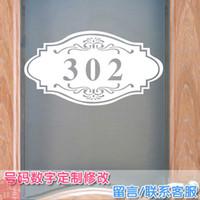 apartment wall - Custom stickers dorm room number house number wall bedroom apartment guesthouse decorative door stickers