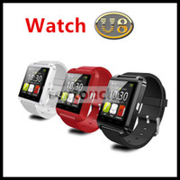 Wholesale Fashion Bluetooth Silicone Smart Watch WristWatch U8 U Watch for iPhone S S Samsung S4 Note Note HTC Android Phone Smartphones