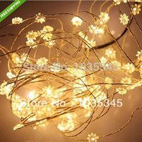 ac power point - 10M LED eight pointed star silver wire led fairy string lights with V AC power adaptor Christmas party wedding decoration