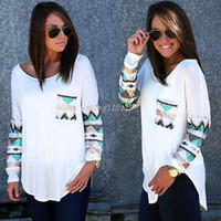 Wholesale New Fashion Womens Ladies Long Sleeve Lace Tops Summer Casual Shirt Tops Blouse