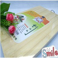 bamboo chopping boards - Hot sale bamboo Chopping Block Wooden Thicken Cutting Board Solid Wooden Block Kitchen Cooking Tools OEM I