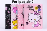 apple cake mix - For Apple iPad Air Cute Hello Kitty Bowknot Cake Book Smart PU Wallet Leather Case Cover With Stand Holder For iPad