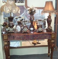 Wholesale Square brown diamond story porch decorated classical tea table tea table