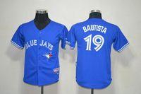 fashion baseball jerseys - 2015 Fashion New Kids Jose Bautista Youth Jersey Blue Polyester Boys Toronto Blue Jays Jose Bautista Jersey Child Top Best Sale