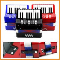 accordions - Kids Children Key Bass Mini Small Accordion Educational Musical Instrument Rhythm Band Toy Black Red Blue